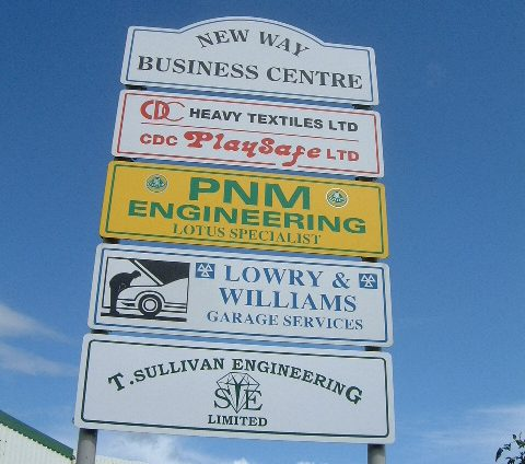 Printed Industrial Estate Signs