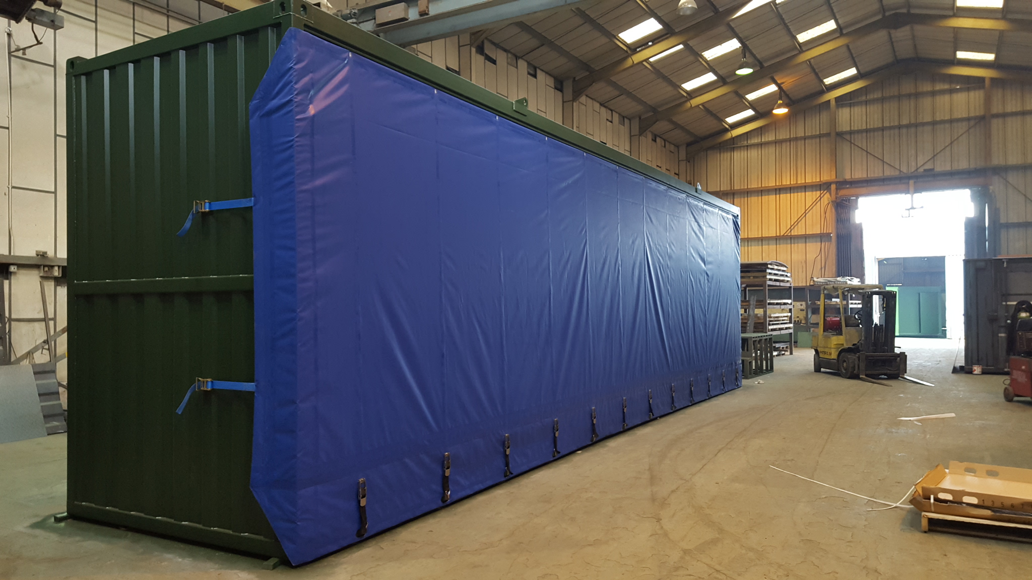 TIR Container Tilts and Tarpaulins